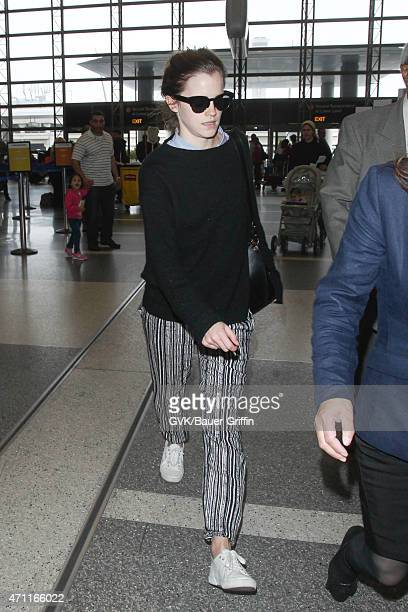Emma Watson seen at LAX on April 25 2015 in Los Angeles California