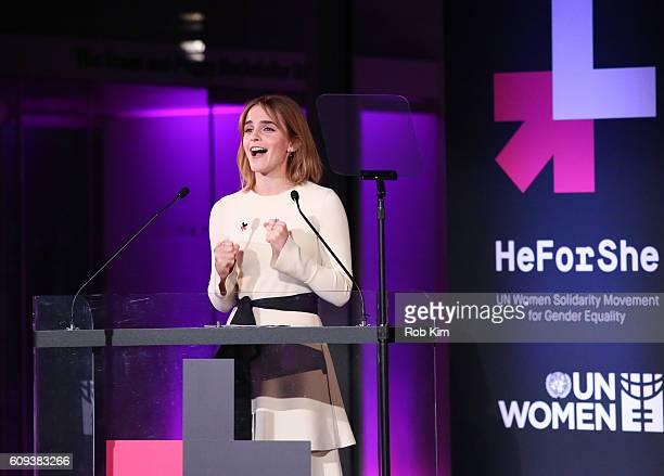 Emma Watson speaks at HeForShe 2nd Anniversary Reception at Museum of Modern Art on September 20 2016 in New York City