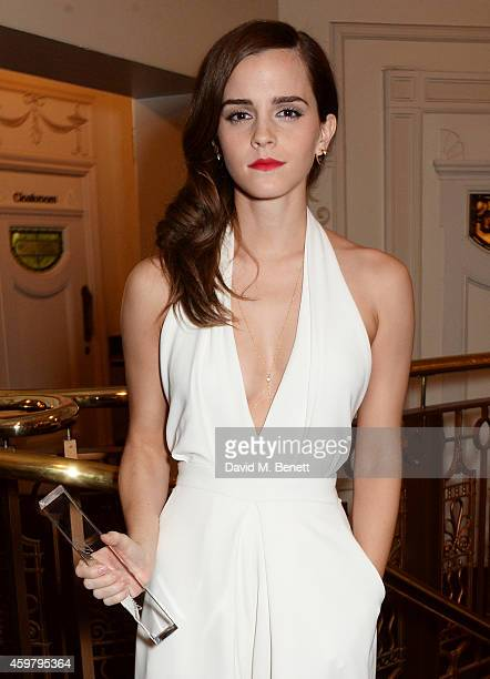 Emma Watson winner of the British Style award attends the British Fashion Awards at the London Coliseum on December 1 2014 in London England