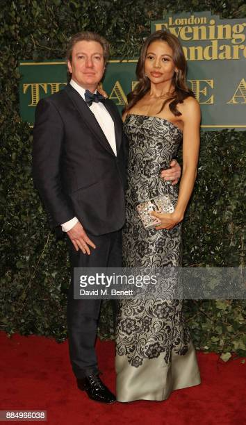 Emma Weymouth and Ceawlin Thynn Viscount Weymouth attend the London Evening Standard Theatre Awards at Theatre Royal on December 3 2017 in London...