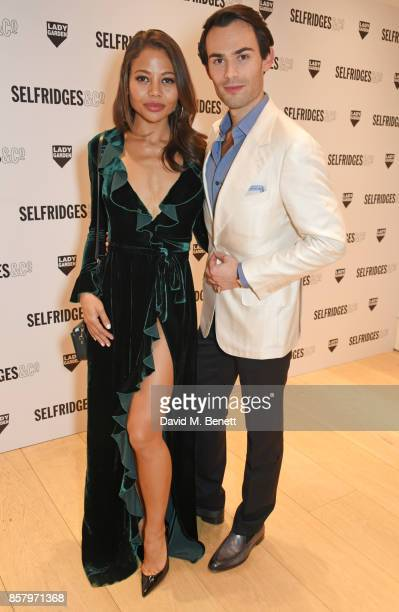 Emma Weymouth and MarkFrancis Vandelli attend the launch of the new Lady Garden limited edition tshirts designed by Naomi Campbell Cara Delevingne...