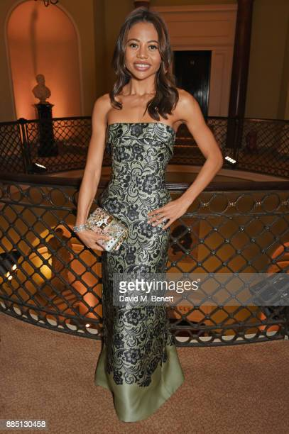 Emma Weymouth attends a drinks reception ahead of the London Evening Standard Theatre Awards 2017 at the Theatre Royal Drury Lane on December 3 2017...