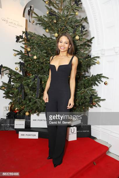 Emma Weymouth attends a party hosted by NETAPORTER and MR PORTER to celebrate the festive season in style at One Horse Guards on November 30 2017 in...