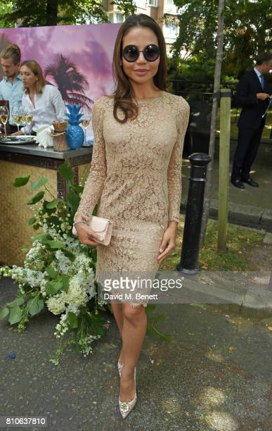 Emma Weymouth attends Piers Adam and Sophie Vanacore's wedding at St John's Church on July 7 2017 in London England