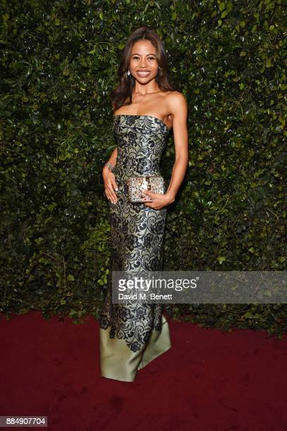 Emma Weymouth attends the London Evening Standard Theatre Awards 2017 at the Theatre Royal Drury Lane on December 3 2017 in London England