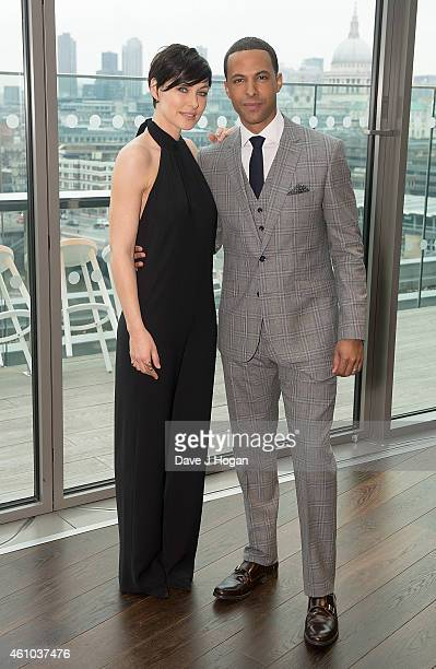 Emma Willis and Marvin Humes attend the launch of 'The Voice UK' Series 4 at The Mondrian Hotel on January 5 2015 in London England