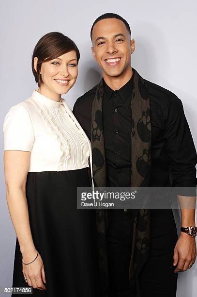 Emma Willis and Marvin Humes attend The Voice Launch which airs on BBC One on Saturday January 9th at 730 pm at The Mondrian Hotel on December 21...