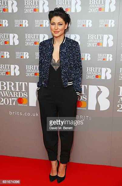 Emma Willis arrives at The BRIT Awards with Mastercard 2017 nominations show at ITV Studios on January 14 2017 in London England