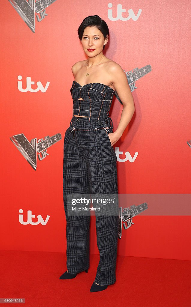 Emma Willis arrives for the press launch of The Voice UK at Millbank Tower on January 4, 2017 in London, England.