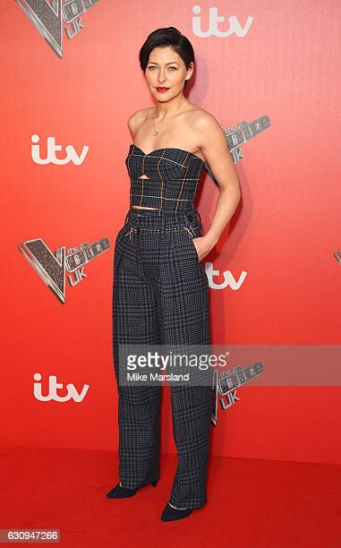 Emma Willis arrives for the press launch of The Voice UK at Millbank Tower on January 4 2017 in London England