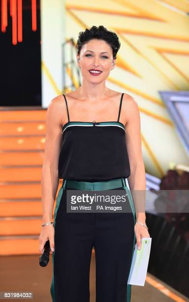 Emma Willis at the Celebrity Big Brother house at Elstree Studios in Borehamwood Hertfordshire