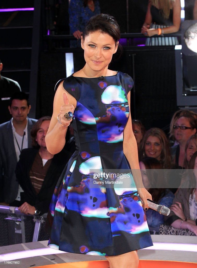 Emma Willis attends the Big Brother final at Elstree Studios on August 19, 2013 in Borehamwood, England.