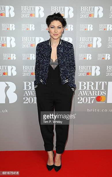 ARTIST Emma Willis attends The BRIT Awards 2017 nominations launch party at ITV Studios on January 14 2017 in London United Kingdom