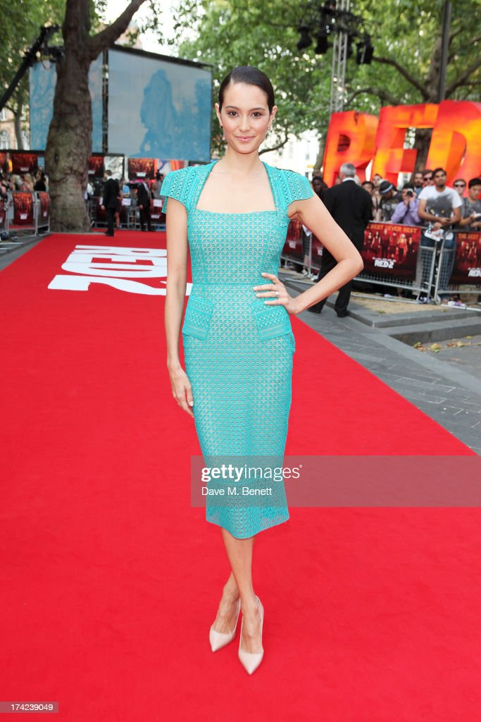 Emma Willis attends the European Premiere of 'Red 2' at the Empire Leicester Square on July 22, 2013 in London, England.