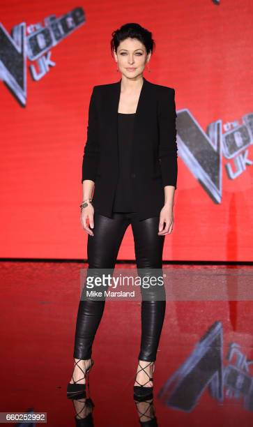 Emma Willis attends the final of The Voice UK on March 29 2017 in London United Kingdom