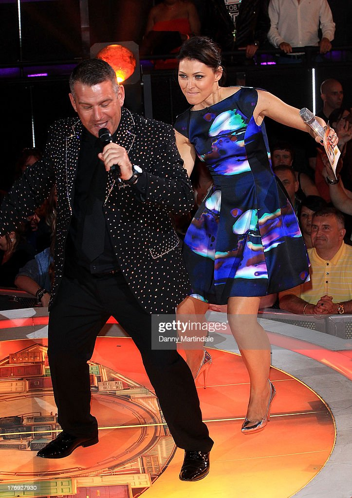 <a gi-track='captionPersonalityLinkClicked' href=/galleries/search?phrase=Emma+Willis&family=editorial&specificpeople=692294 ng-click='$event.stopPropagation()'>Emma Willis</a> dances with a contestant at the Big Brother final at Elstree Studios on August 19, 2013 in Borehamwood, England.