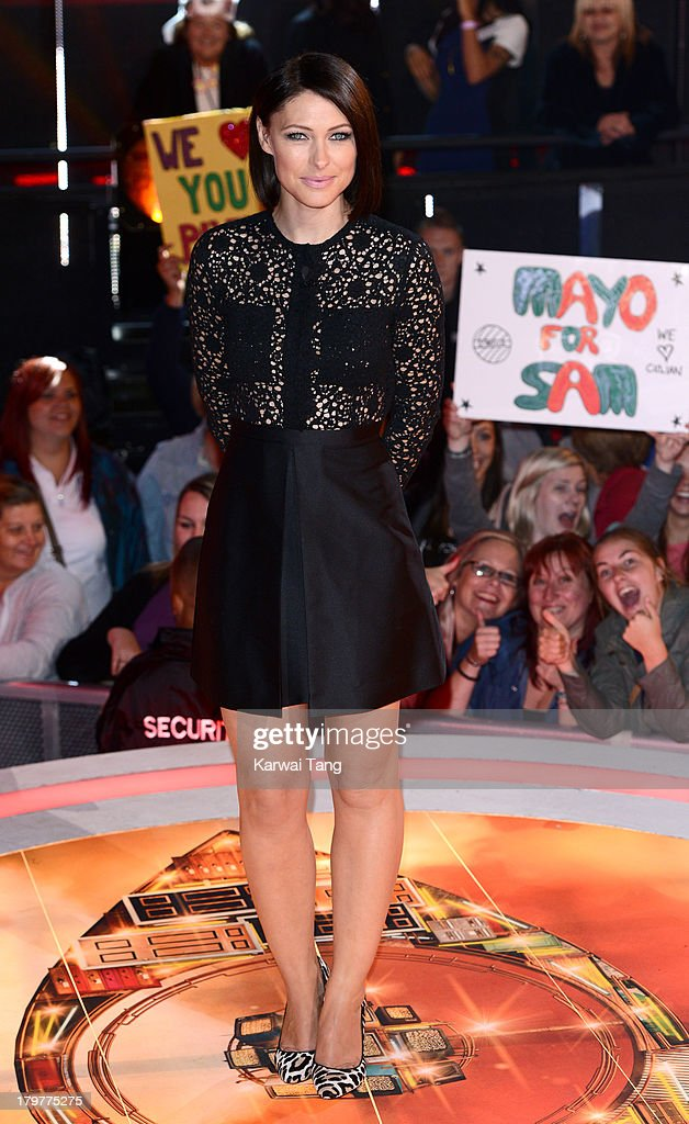 <a gi-track='captionPersonalityLinkClicked' href=/galleries/search?phrase=Emma+Willis&family=editorial&specificpeople=692294 ng-click='$event.stopPropagation()'>Emma Willis</a> hosts from the Celebrity Big Brother house at Elstree Studios on September 6, 2013 in Borehamwood, England.