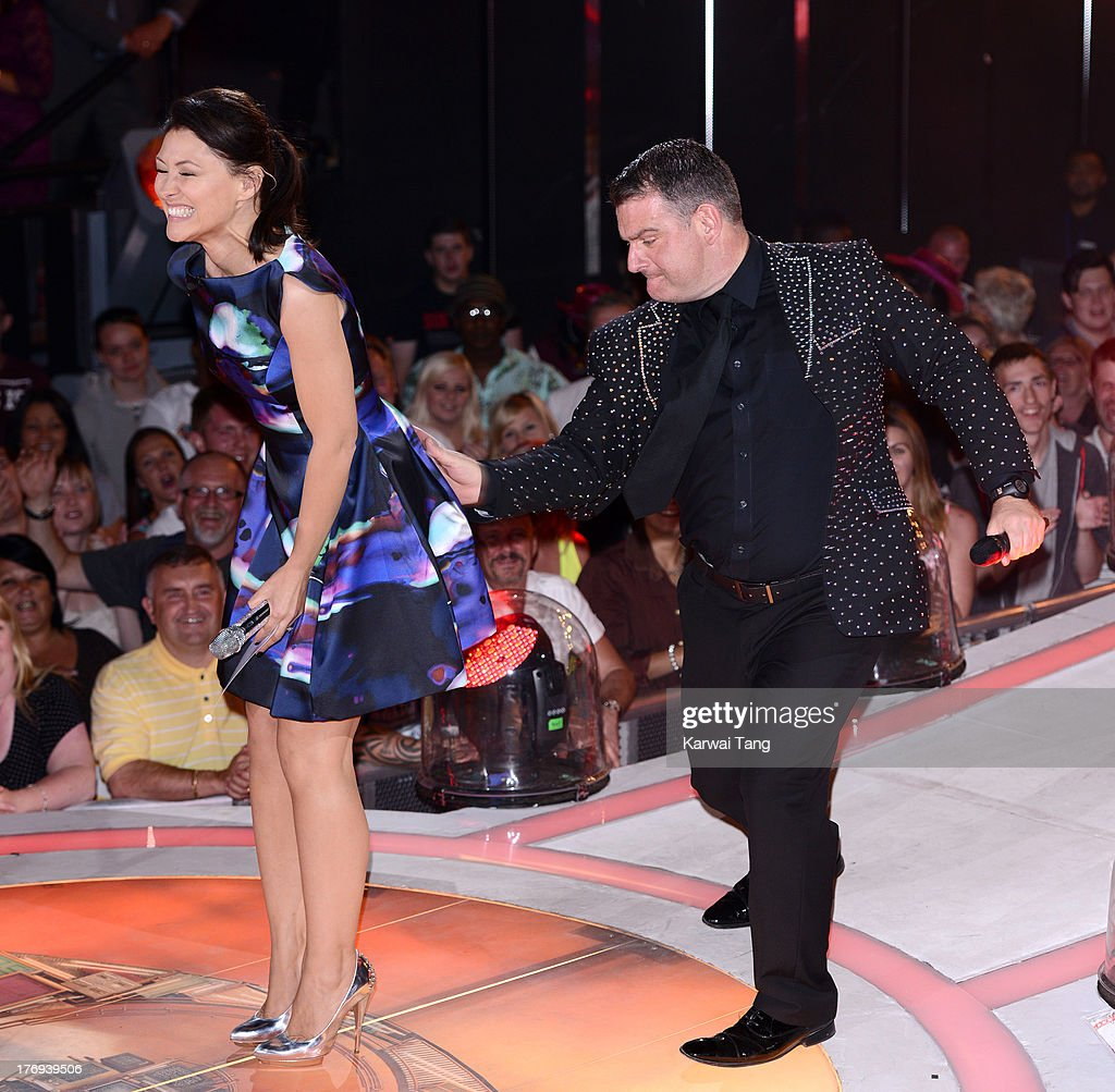 <a gi-track='captionPersonalityLinkClicked' href=/galleries/search?phrase=Emma+Willis&family=editorial&specificpeople=692294 ng-click='$event.stopPropagation()'>Emma Willis</a> hosts the final of Big Brother at Elstree Studios on August 19, 2013 in Borehamwood, England.