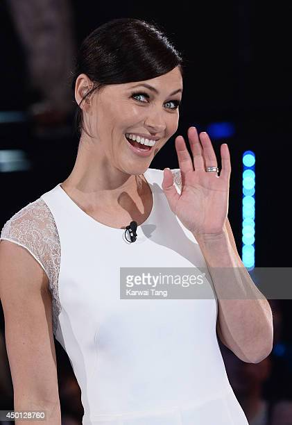 Emma Willis presents at the Big Brother house during the Big Brother Power Trip Live Launch at Elstree Studios on June 5 2014 in Borehamwood England