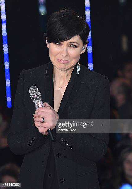 Emma Willis presents at the Celebrity Big Brother house at Elstree Studios on January 7 2015 in Borehamwood England