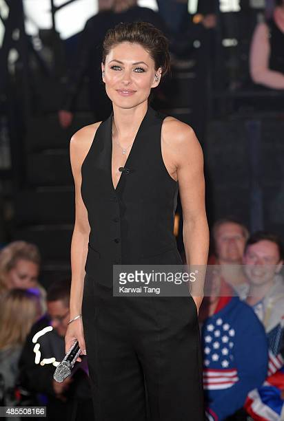 Emma Willis presents at the Celebrity Big Brother launch at Elstree Studios on August 27 2015 in Borehamwood England