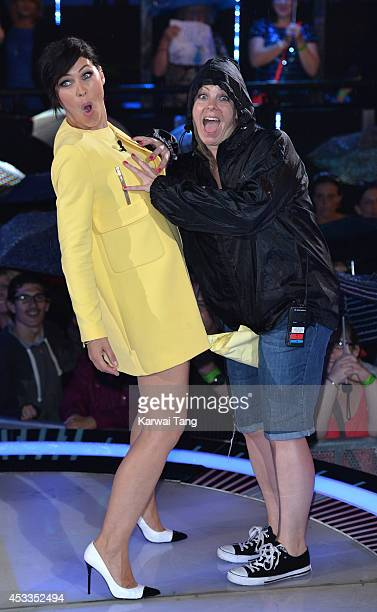 Emma Willis presents Big Brother at Elstree Studios on August 8 2014 in Borehamwood England