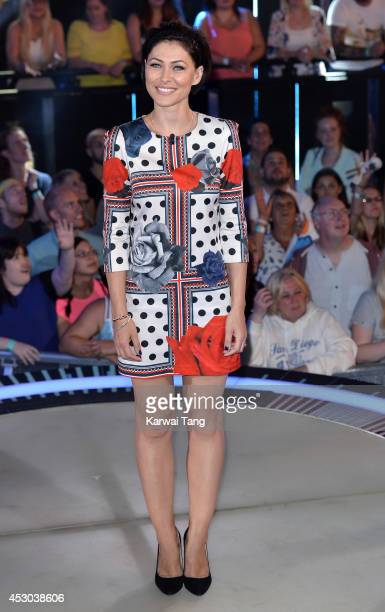 Emma Willis presents from the Big Brother house at Elstree Studios on August 1 2014 in Borehamwood England