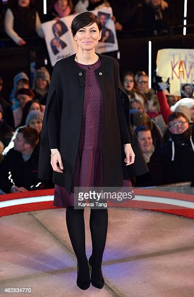 Emma Willis presents from the Big Brother house at Elstree Studios on January 30 2015 in Borehamwood England