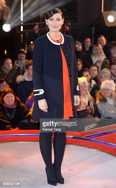 Emma Willis presents from the Big Brother house at Elstree Studios on January 22 2016 in Borehamwood England