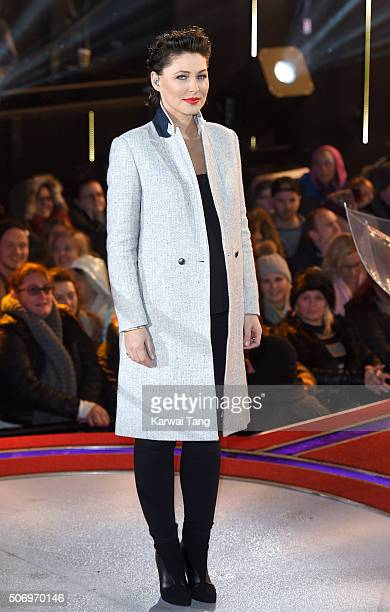 Emma Willis presents from the Big Brother House at Elstree Studios on January 26 2016 in Borehamwood England