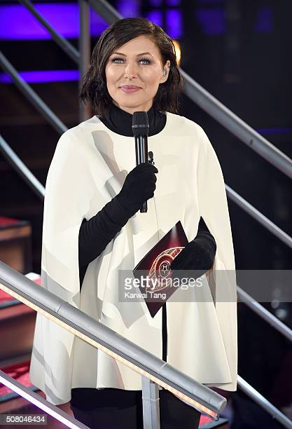 Emma Willis presents from the Big Brother House at Elstree Studios on February 2 2016 in Borehamwood England
