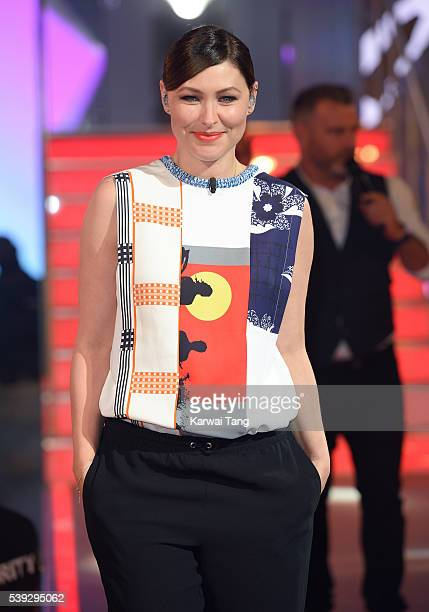 Emma Willis presents from the Big Brother house at Elstree Studios on June 10 2016 in Borehamwood England