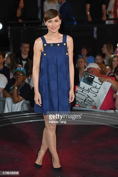 Emma Willis presents from the Big Brother Timebomb house at Elstree Studios on June 26 2015 in Borehamwood England