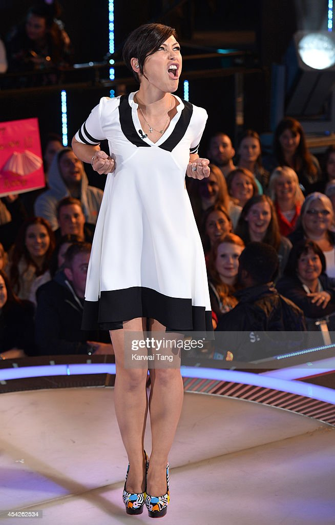 Emma Willis presents from the Celebrity Big Brother house at Elstree Studios on August 27, 2014 in Borehamwood, England.