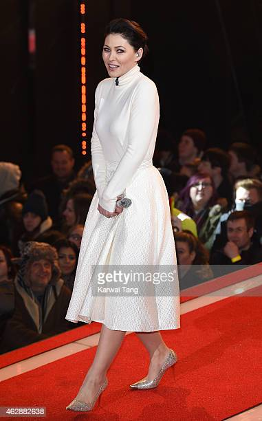 Emma Willis presents from the Celebrity Big Brother house at Elstree Studios on February 6 2015 in Borehamwood England