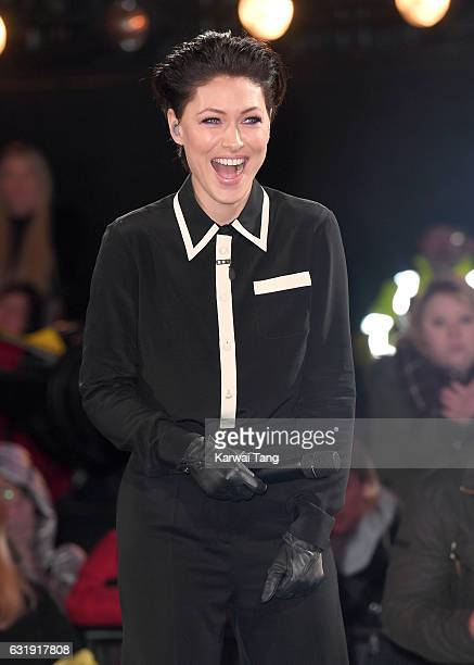 Emma Willis presents from the Celebrity Big Brother House at Elstree Studios on January 17 2017 in Borehamwood England