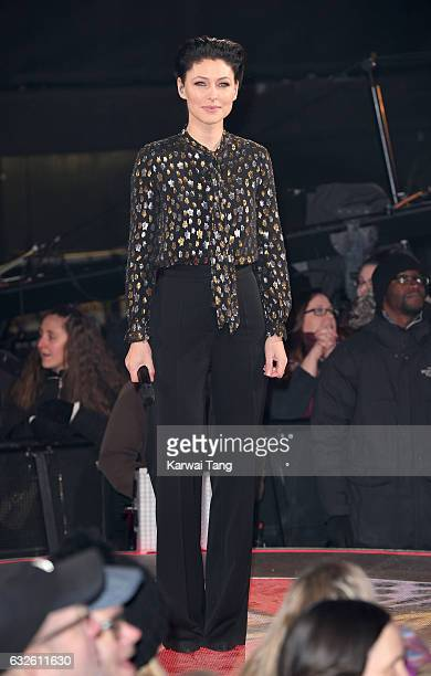 Emma Willis presents from the Celebrity Big Brother house at Elstree Studios on January 24 2017 in Borehamwood England