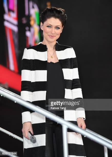 Emma Willis presents from the Celebrity Big Brother house at Elstree Studios on February 3 2017 in Borehamwood United Kingdom