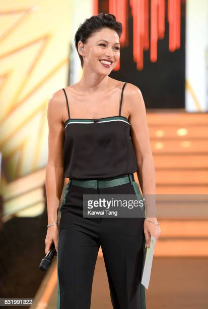 Emma Willis presents from the Celebrity Big Brother house at Elstree Studios on August 15 2017 in Borehamwood England