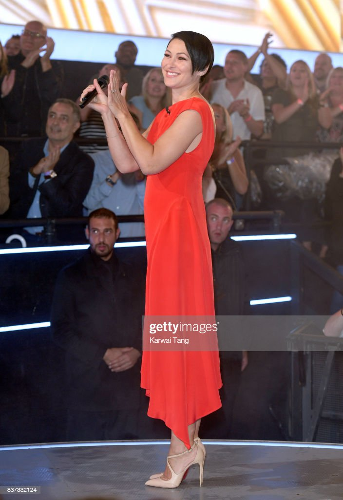 Emma Willis presents from the Celebrity Big Brother House at Elstree Studios on August 22, 2017 in Borehamwood, England.