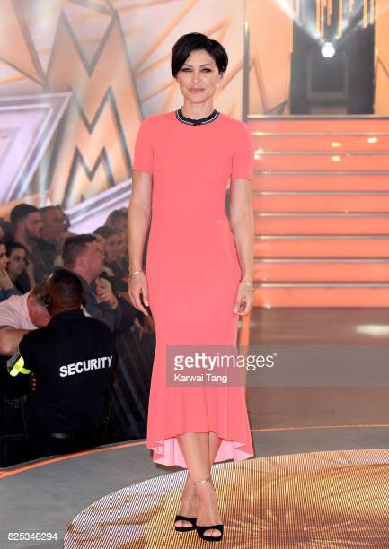 Emma Willis presents from the Celebrity Big Brother launch at Elstree Studios on August 1 2017 in Borehamwood England