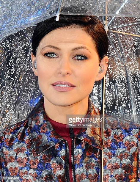 Emma Willis presents the 2nd celebrity eviction from Celebrity Big Brother at Elstree Studios on January 23 2015 in Borehamwood England