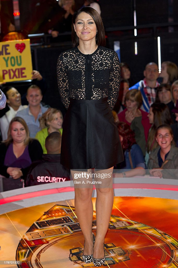 Emma Willis presents the Celebrity Big Brother eviction show at Elstree Studios on September 6, 2013 in Borehamwood, England.