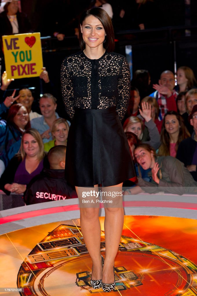 Emma Willis presents the Celebrity Big Brother house eviction show at Elstree Studios on September 6, 2013 in Borehamwood, England.