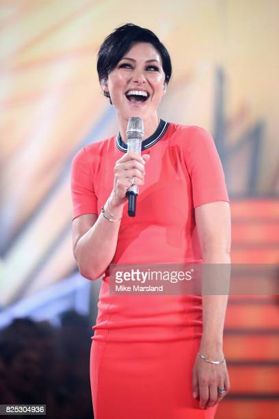 Emma Willis presents the Celebrity Big Brother launch at Elstree Studios on August 1 2017 in Borehamwood England