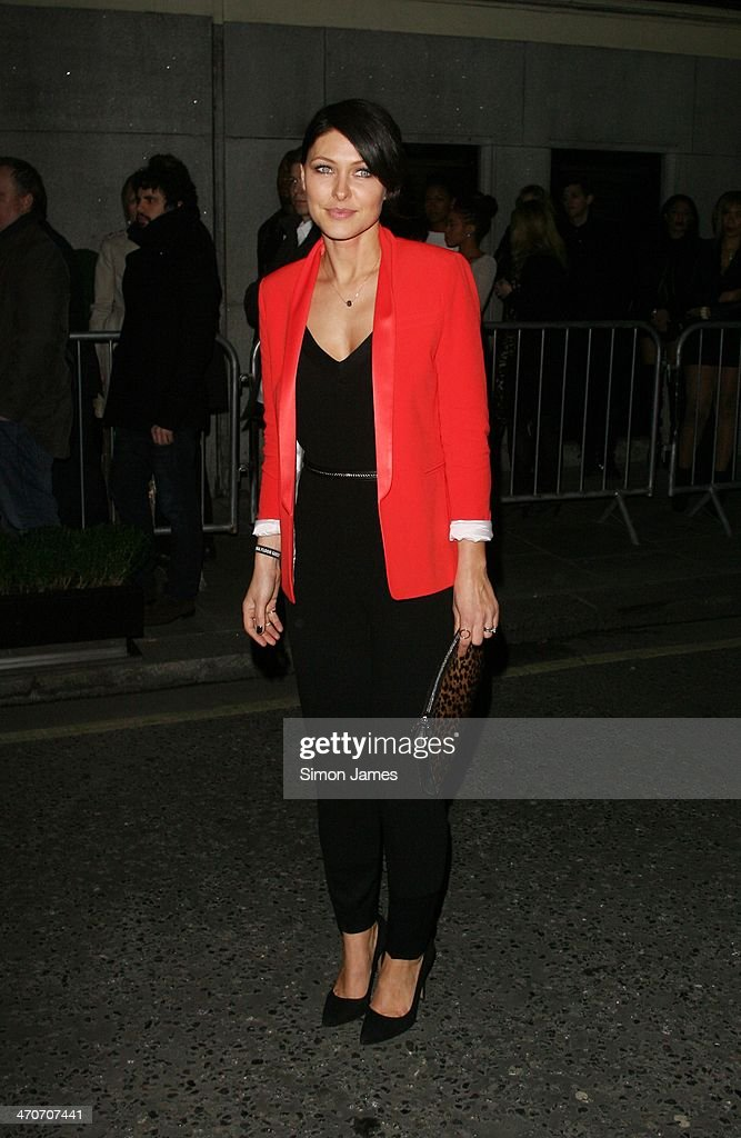 Emma Willis sighted at the Warner Music after party at The Savoy on February 19, 2014 in London, England.