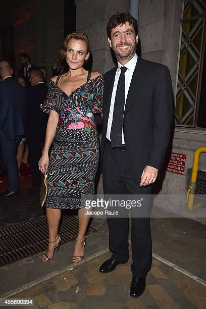 Emma Winter and Andrea Agnelli attend Vogue Italia 50th Anniversary during Milan Fashion Week Womenswear Spring/Summer 2015 on September 21 2014 in...