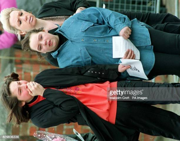 Emma Winter and Michelle Reeve leaving St Mary's Church Acklam Cleveland following the funeral of classmate Nikki Conroy The trial of Stephen James...