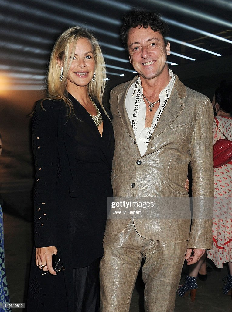 Emma Woollard (L) and Jeremy Healy arrive at the Warner Music Group Pre-Olympics Party in the Southern Tanks Gallery at the Tate Modern on July 26, 2012 in London, England.