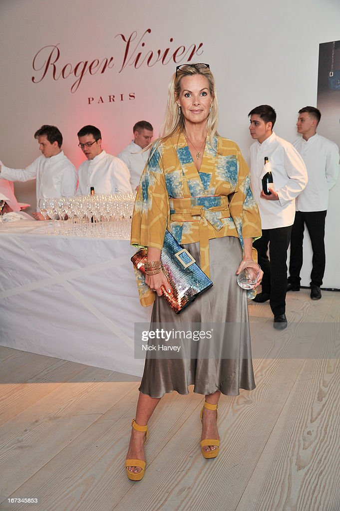 Emma Woollard attends the Roger Vivier book launch party at Saatchi Gallery on April 24, 2013 in London, England.